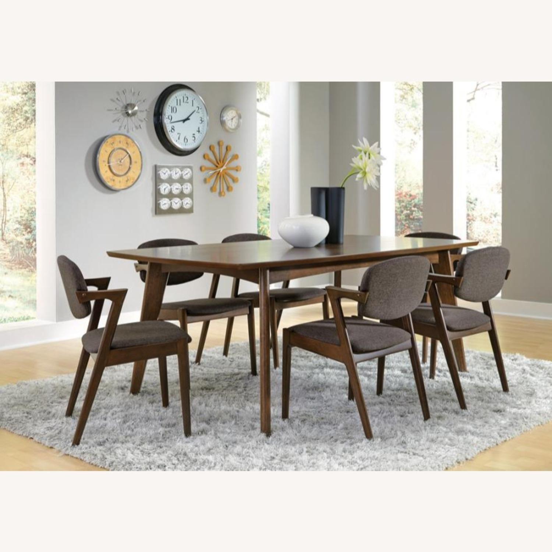 Modern Side Chair In Deep Grey Fabric - image-2