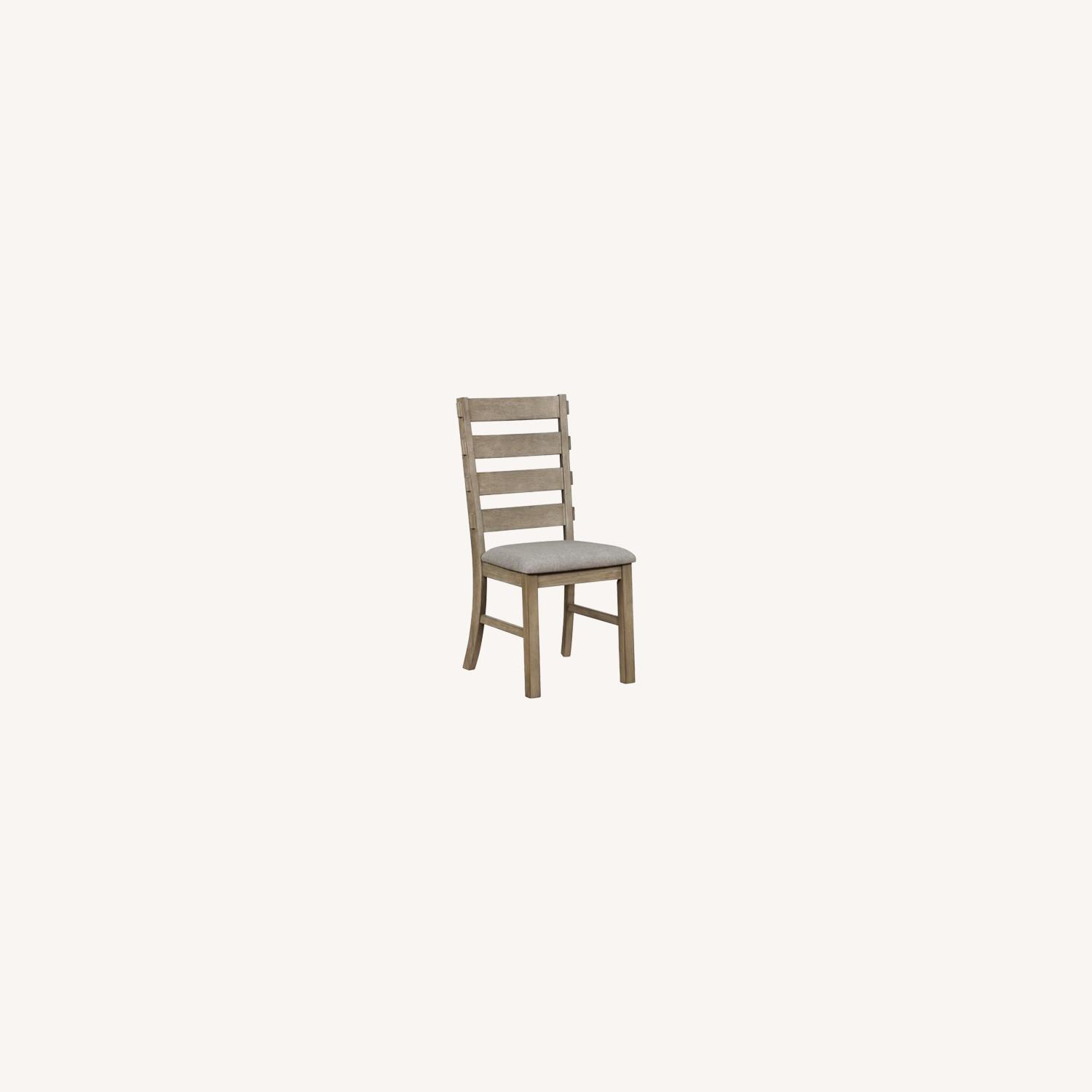 Rustic Dining Chair In Vineyard Oak Finish - image-6