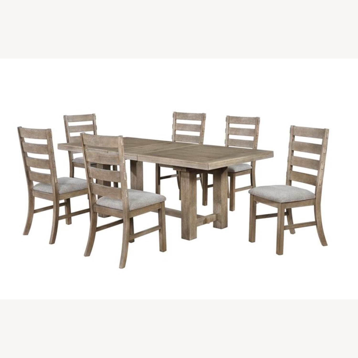 Rustic Dining Chair In Vineyard Oak Finish - image-4