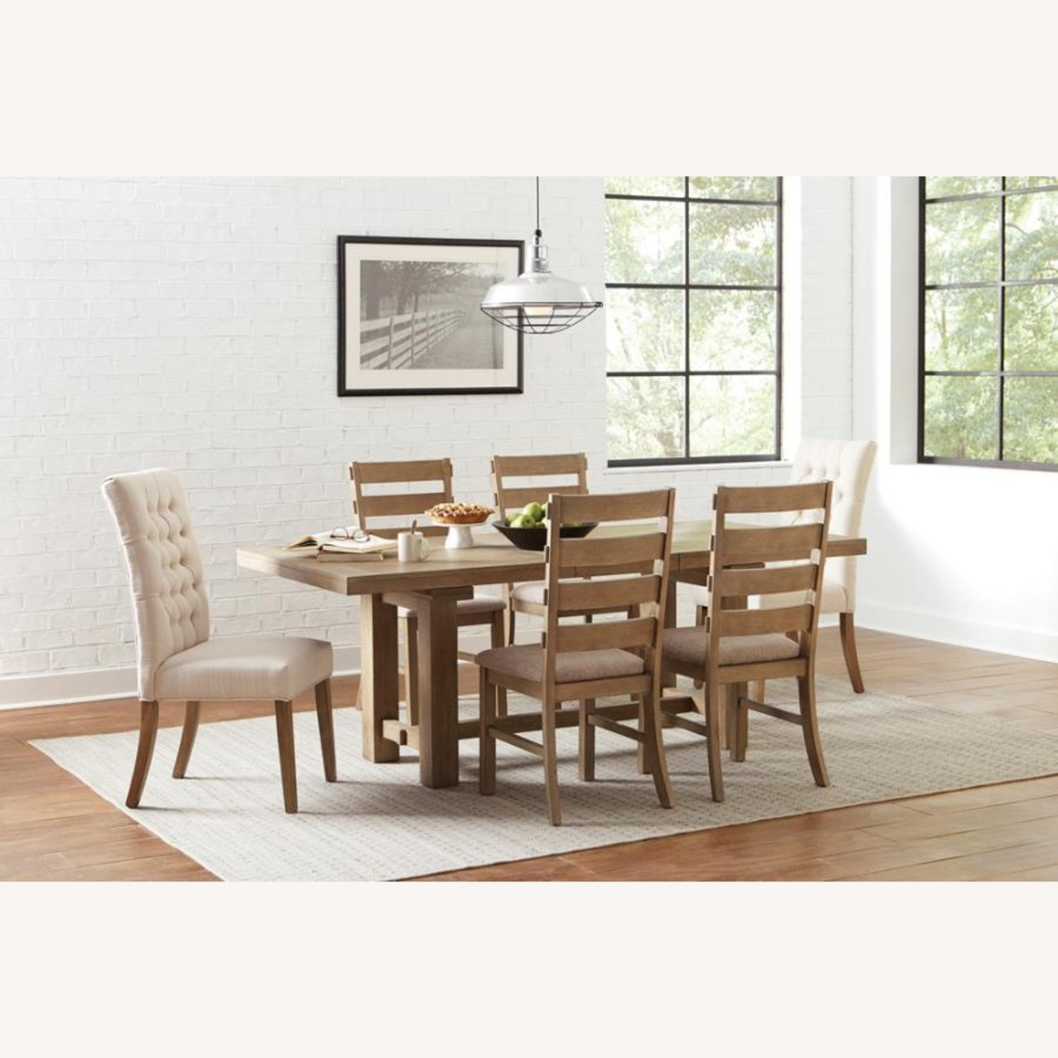 Rustic Dining Chair In Vineyard Oak Finish - image-5
