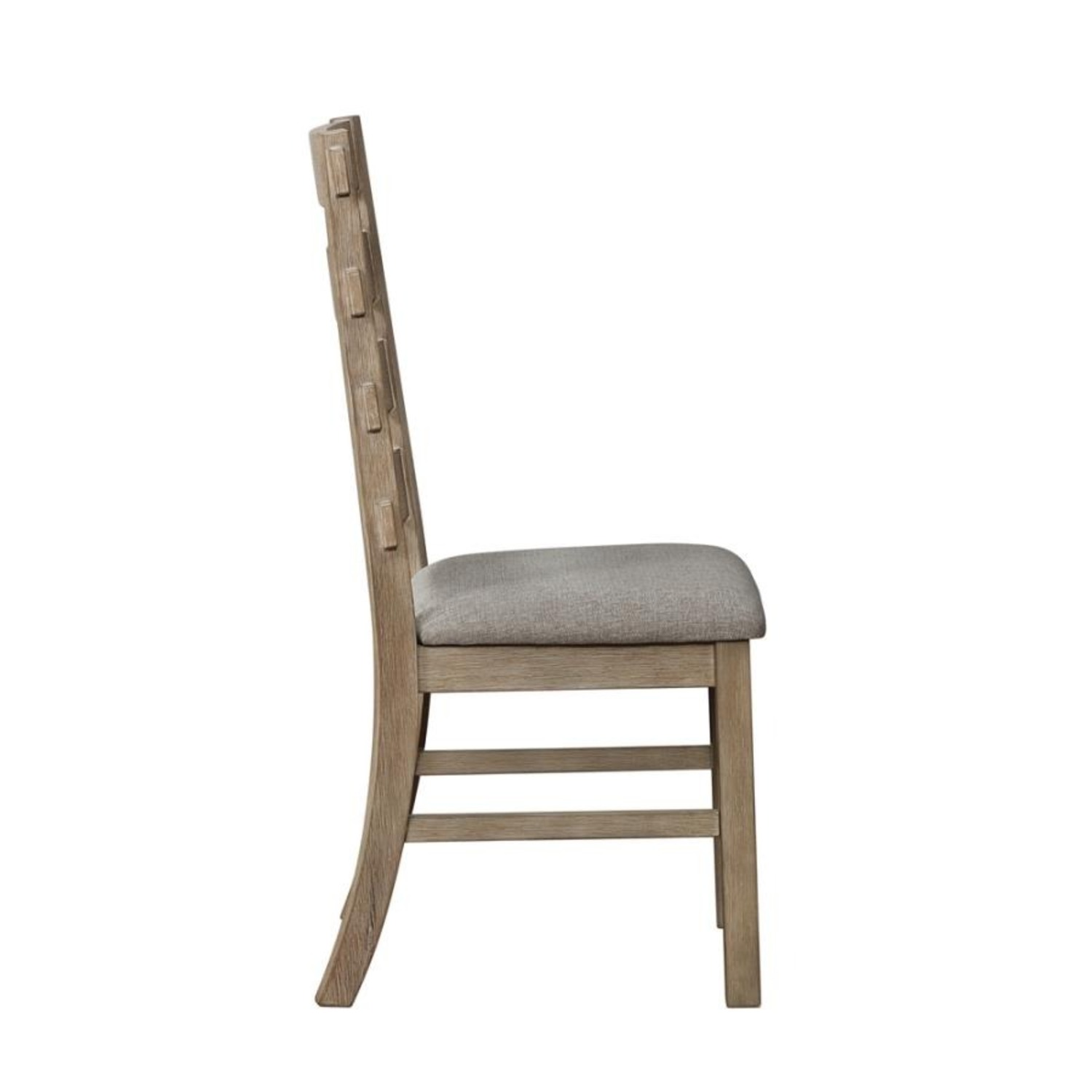 Rustic Dining Chair In Vineyard Oak Finish - image-2