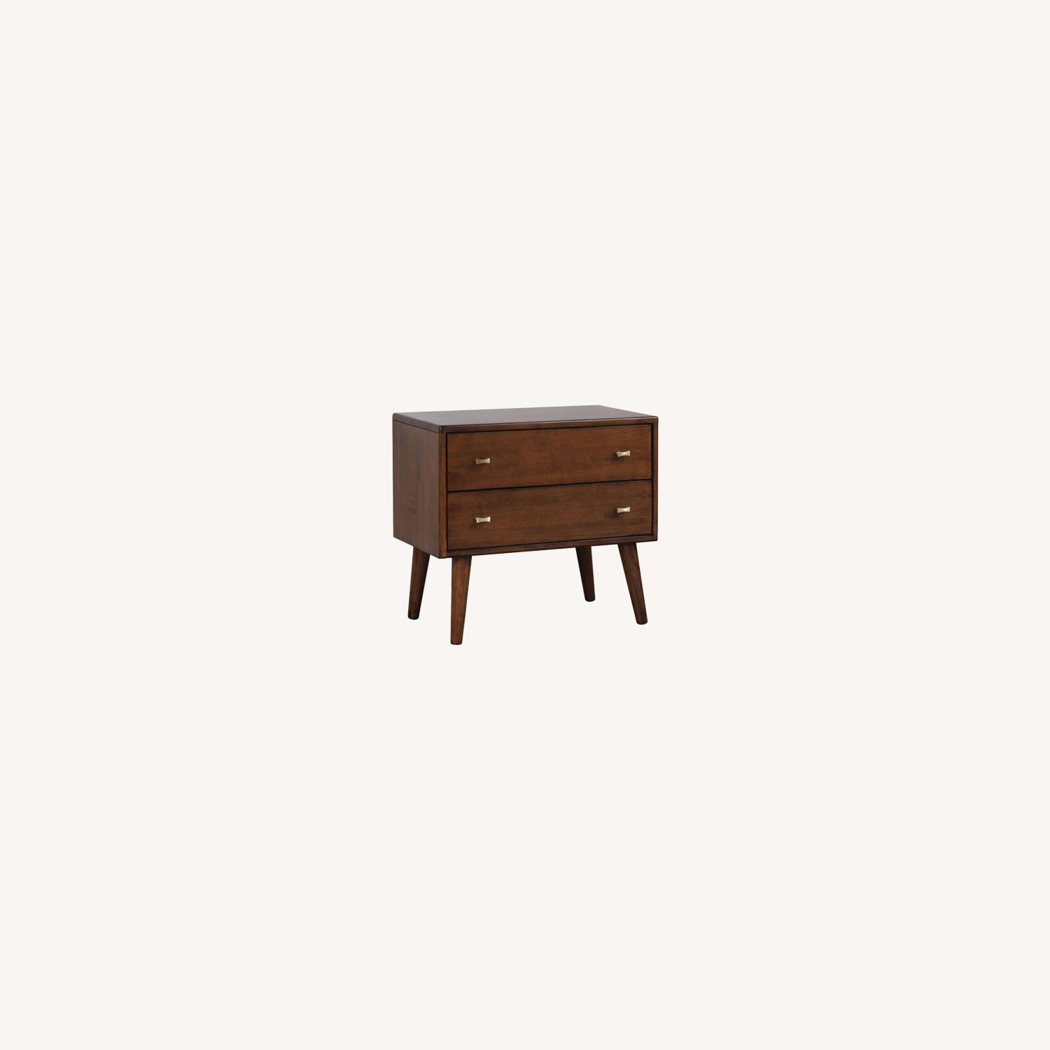 Nightstand W/ Durable Wood In Burnt Sugar Finish - image-3