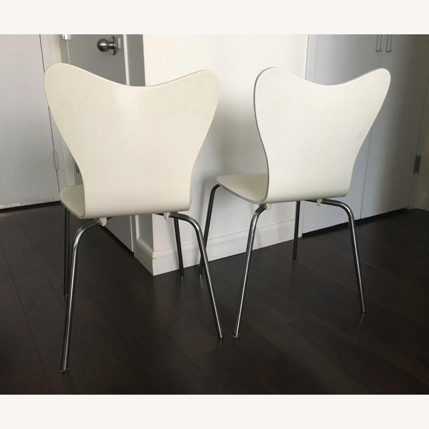 West Elm Scoop Back Dining Chairs - image-5