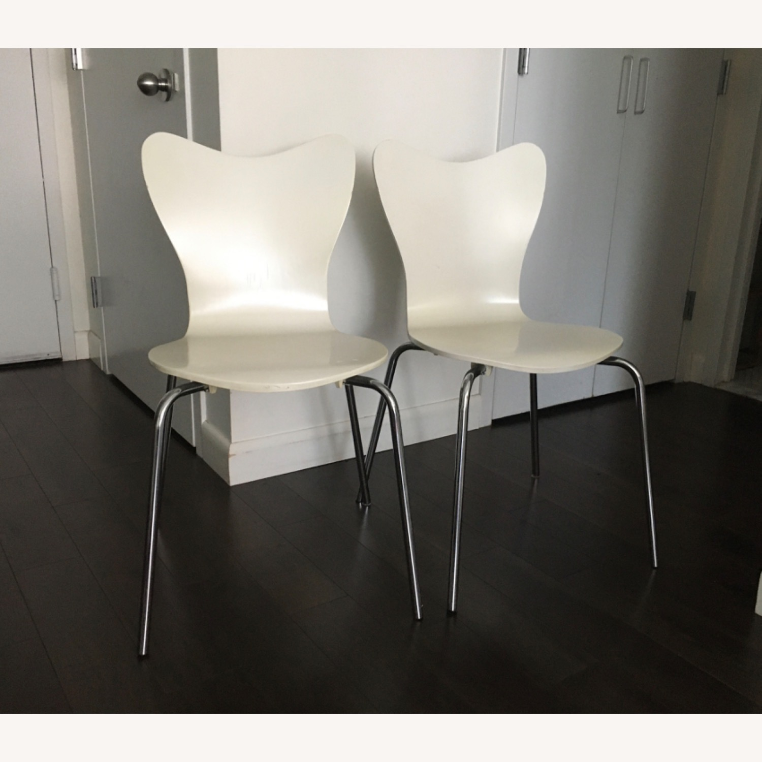 West Elm Scoop Back Dining Chairs - image-1