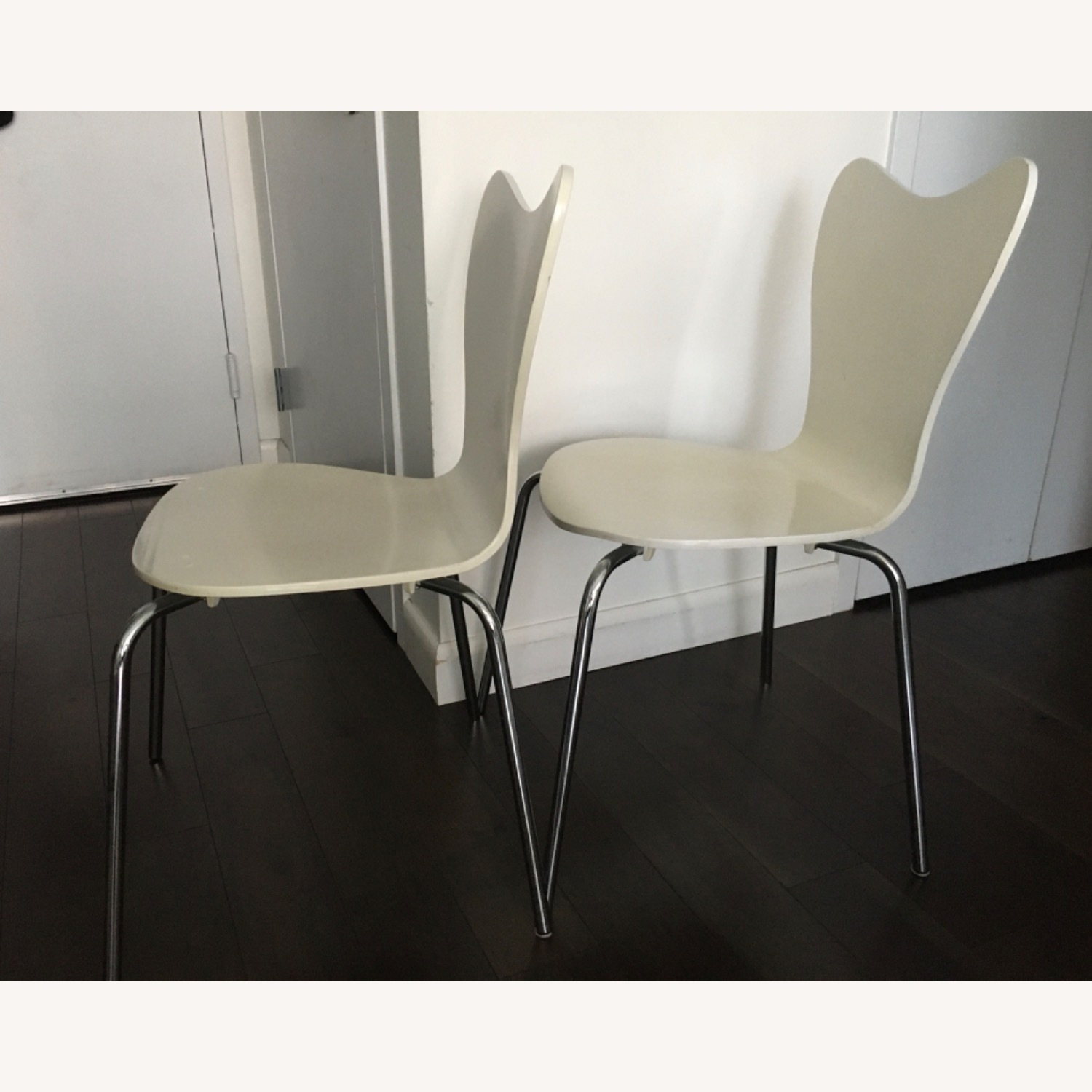 West Elm Scoop Back Dining Chairs - image-4