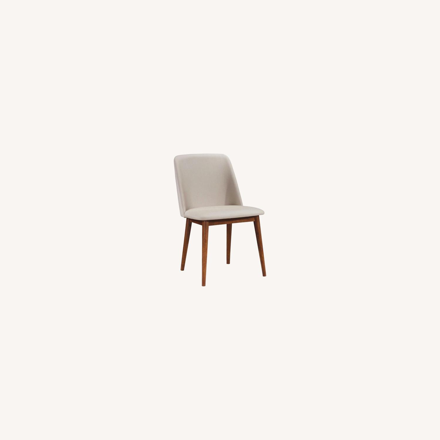 Modern Side Chair In Light Grey Fabric Finish - image-4