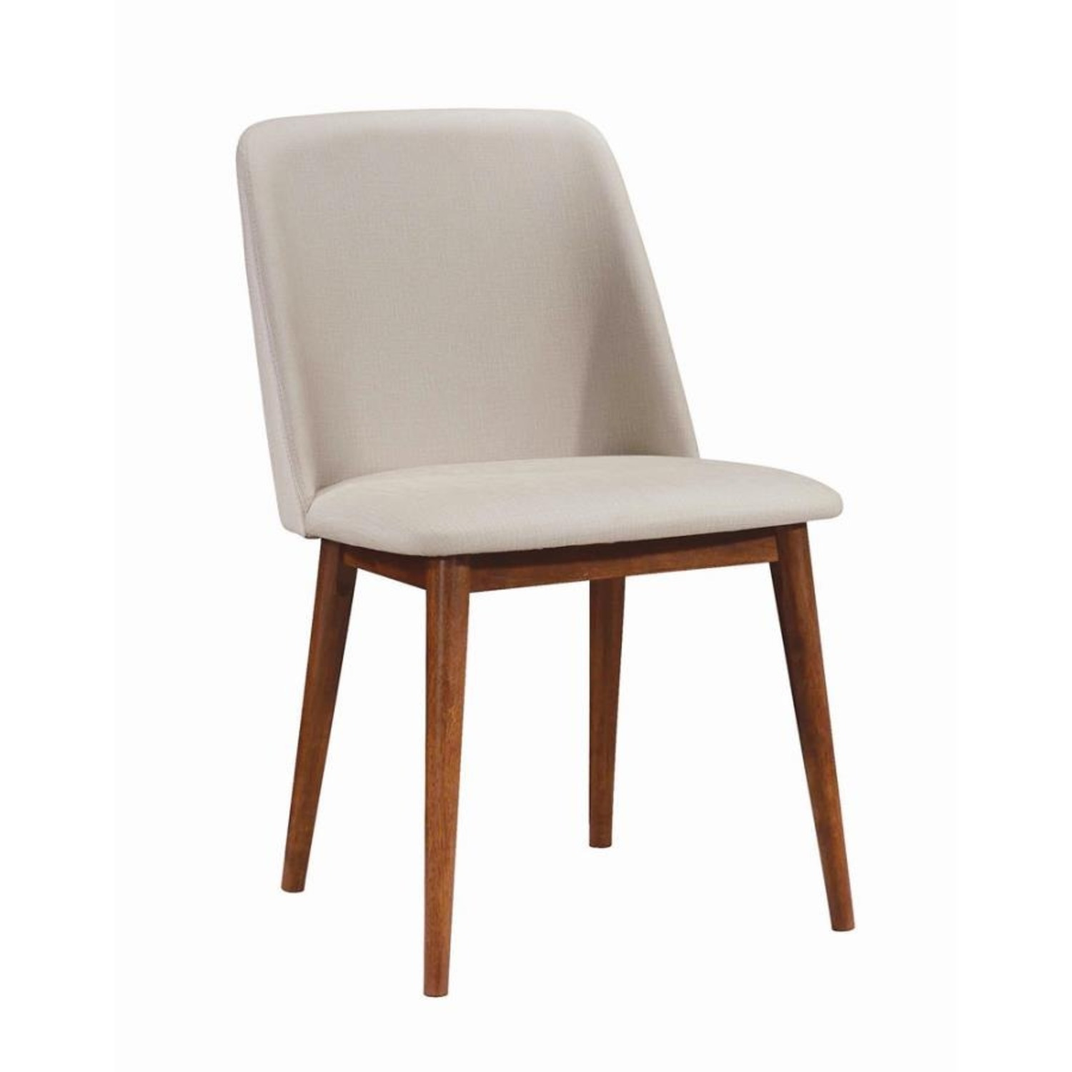 Modern Side Chair In Light Grey Fabric Finish - image-0