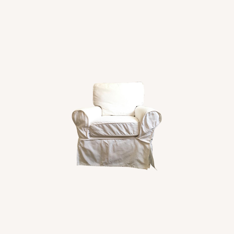 Pottery Barn Swivel Nursery Glider - image-0