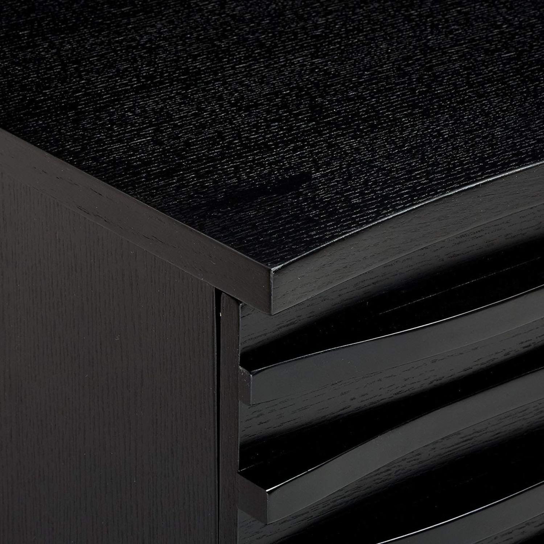 Server In Black W Layered Wave Design - image-2