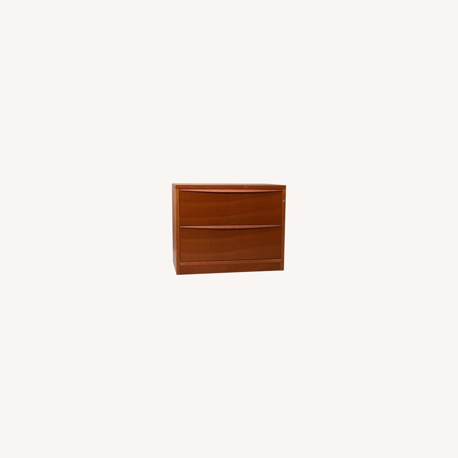 Jesper Office Cherry 2 Drawer Lateral Filing Cabinet - image-0
