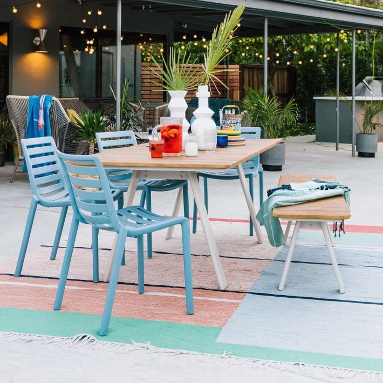 West Elm Halden Outdoor Dining Table, Haze - image-2
