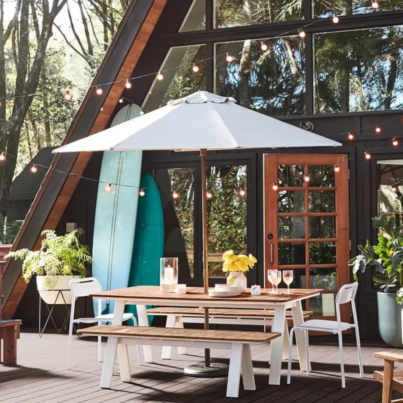West Elm Halden Outdoor Dining Table, Haze - image-1