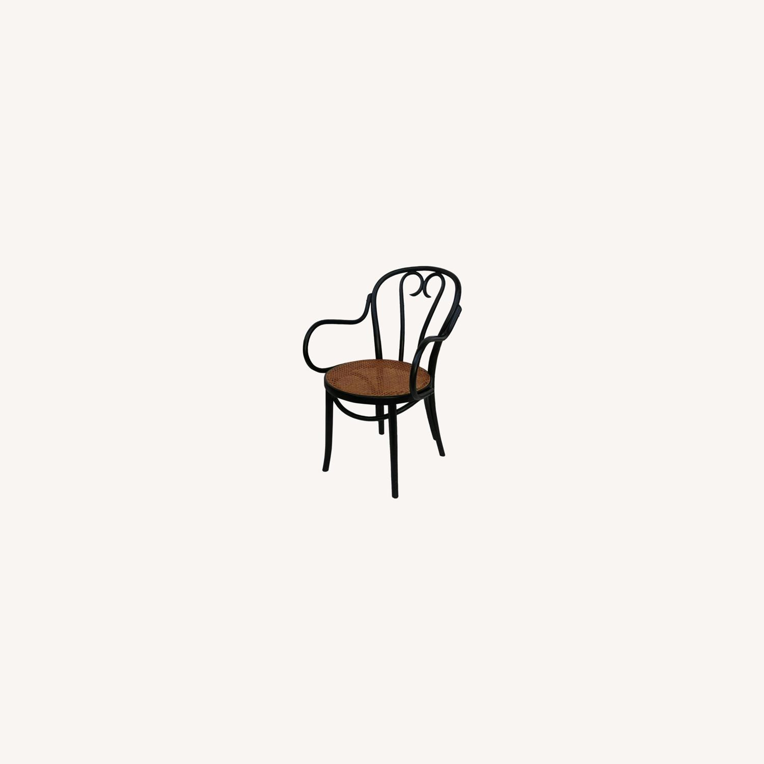 Vintage Cane Seat Accent Chair - image-0