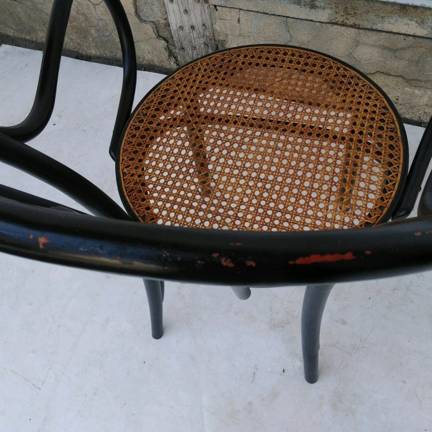 Vintage Cane Seat Accent Chair - image-6