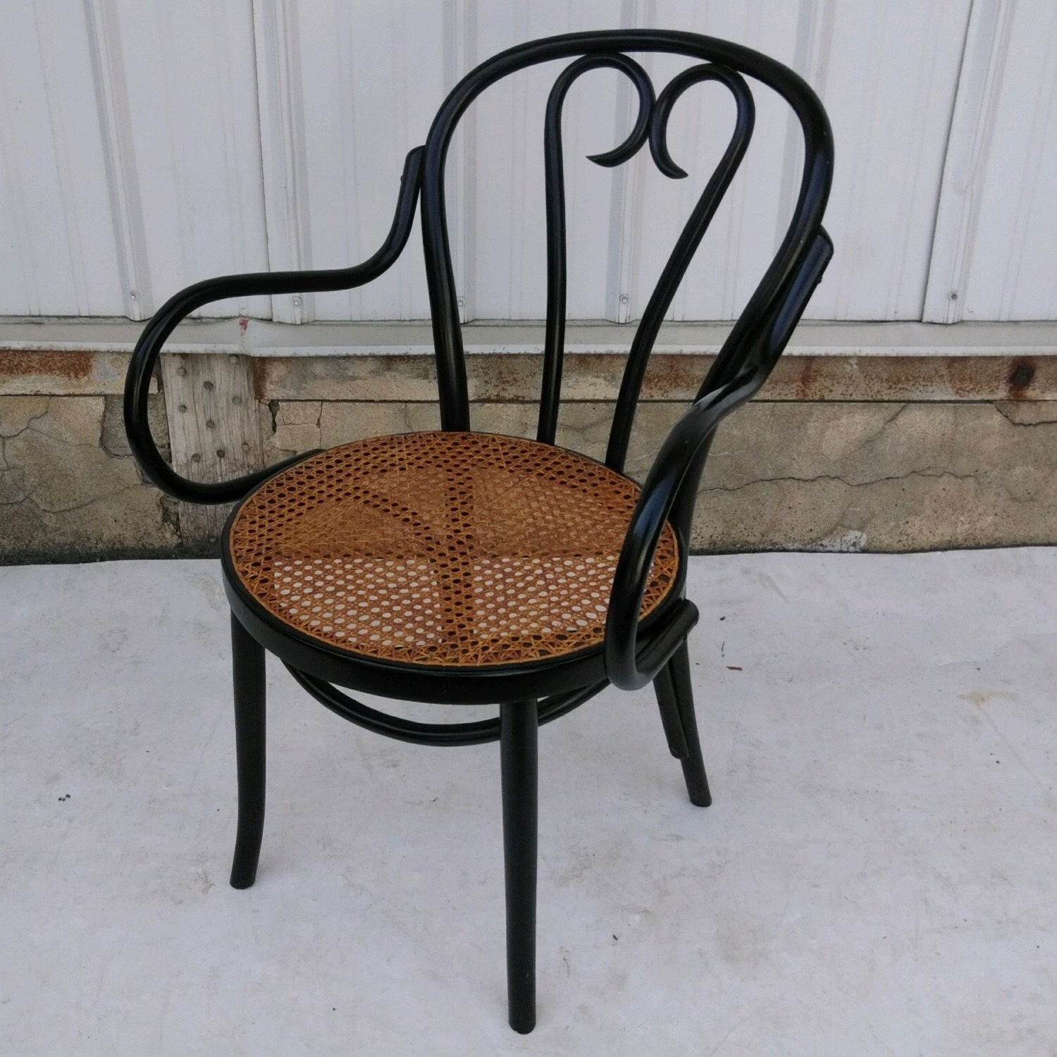 Vintage Cane Seat Accent Chair - image-7