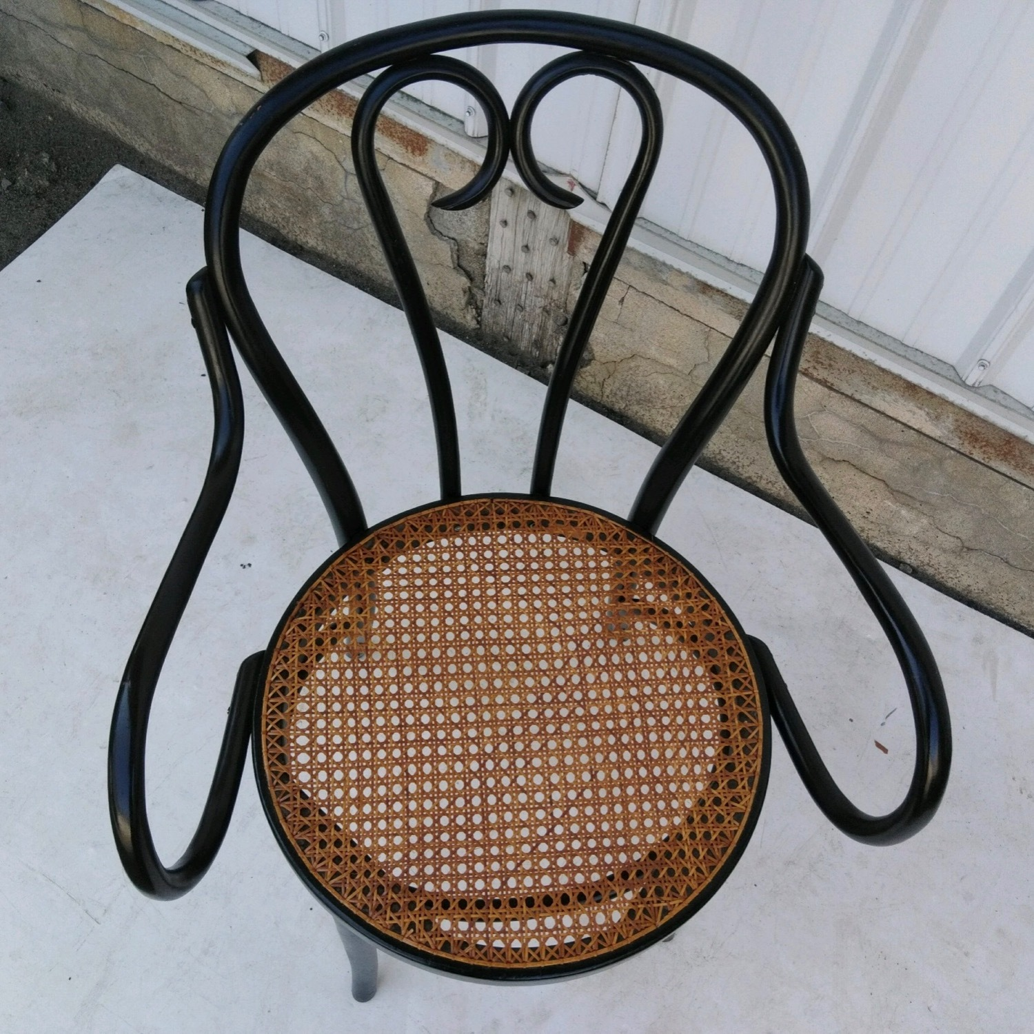 Vintage Cane Seat Accent Chair - image-1