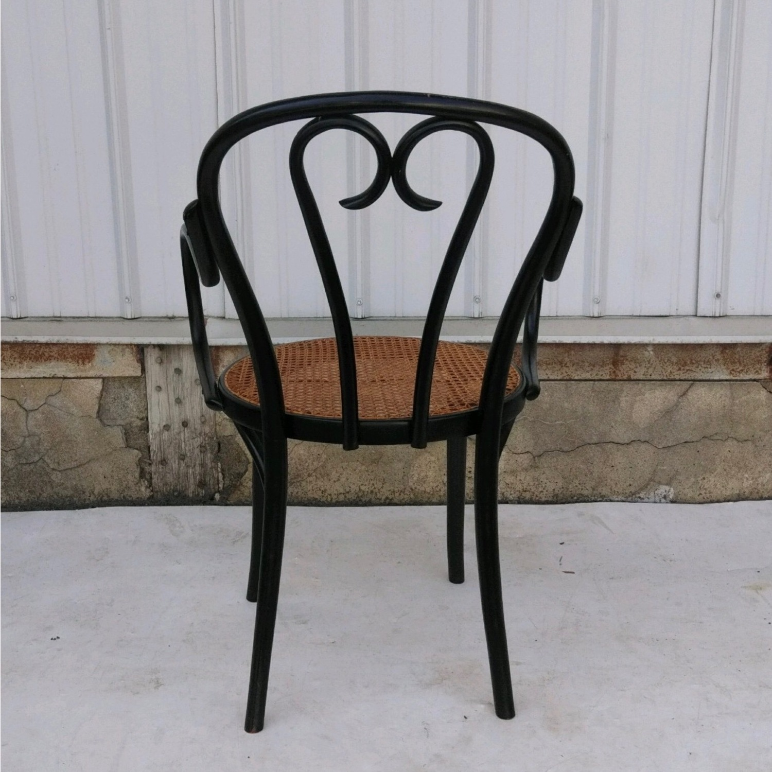 Vintage Cane Seat Accent Chair - image-5