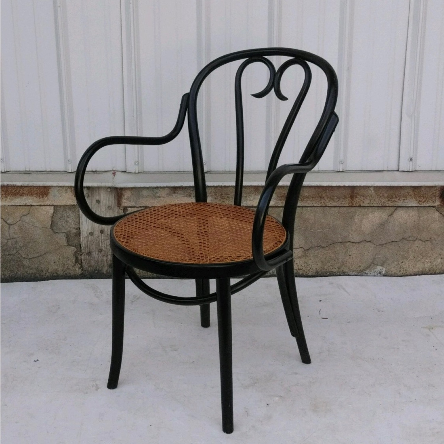 Vintage Cane Seat Accent Chair - image-2