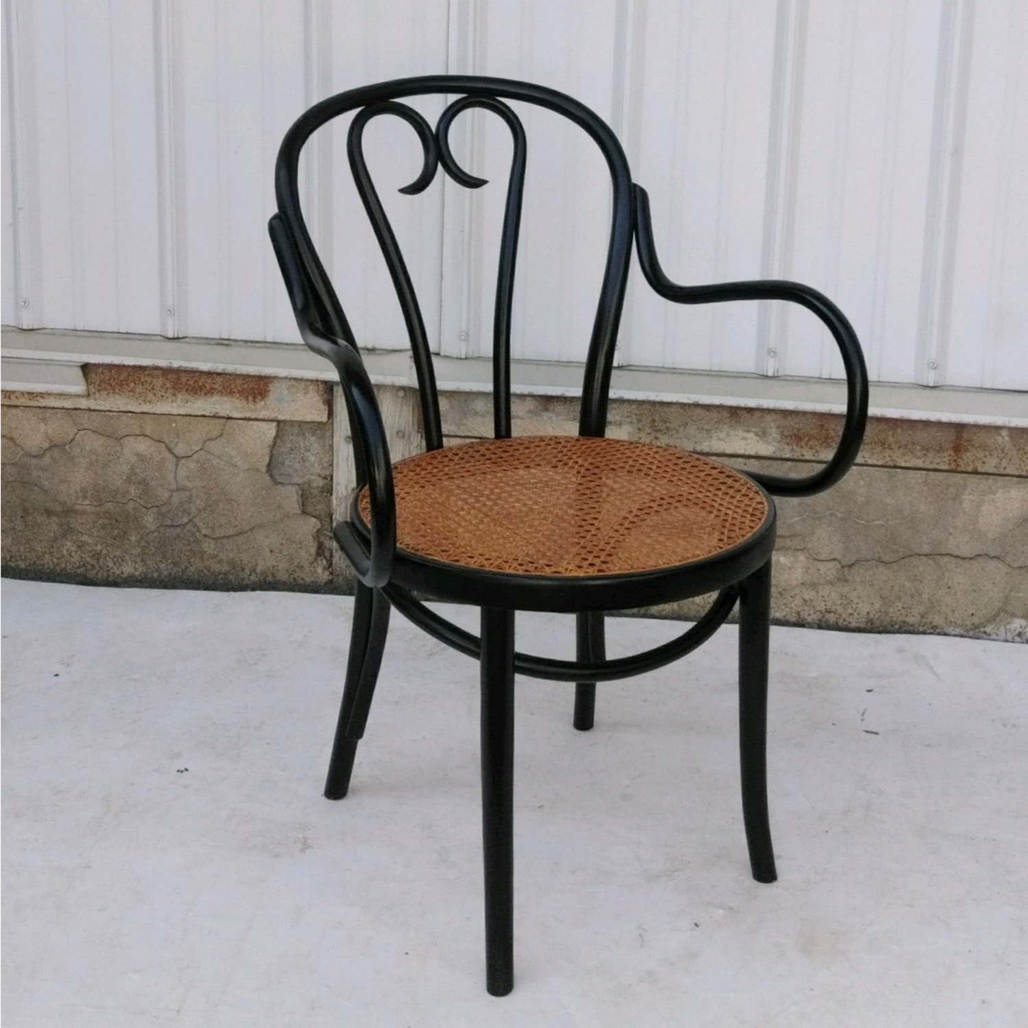 Vintage Cane Seat Accent Chair - image-4