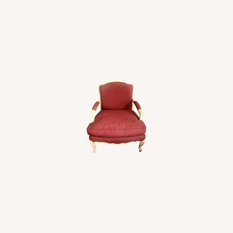 Vintage Wine Red Armchair - image-0