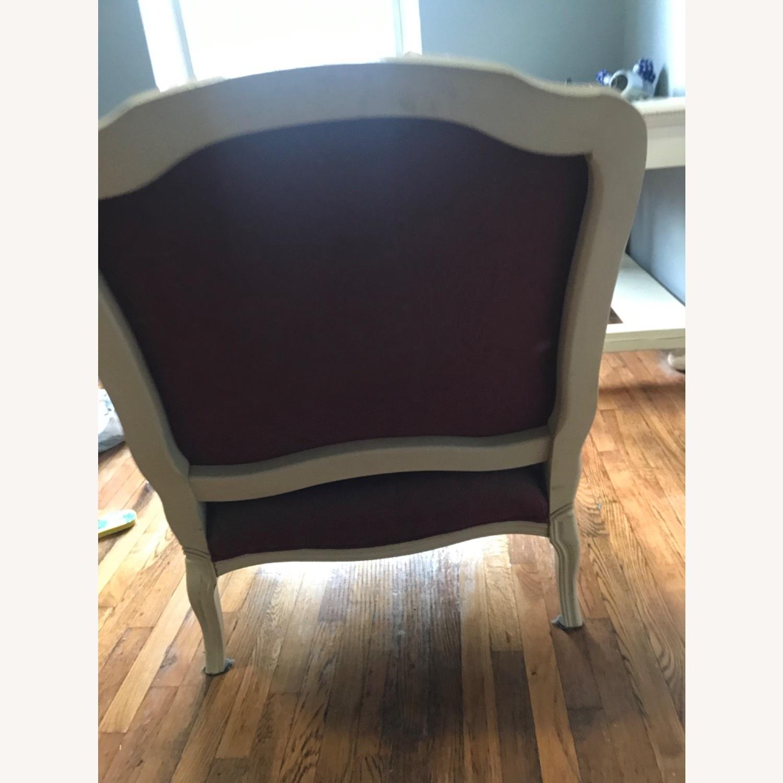Vintage Wine Red Armchair - image-4