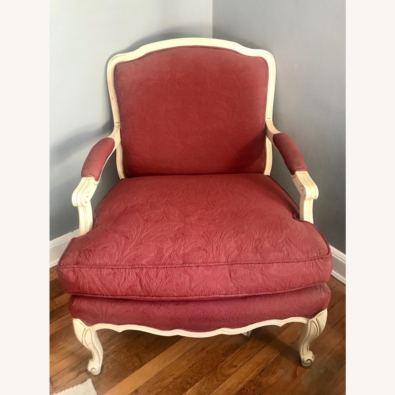 Vintage Wine Red Armchair - image-2
