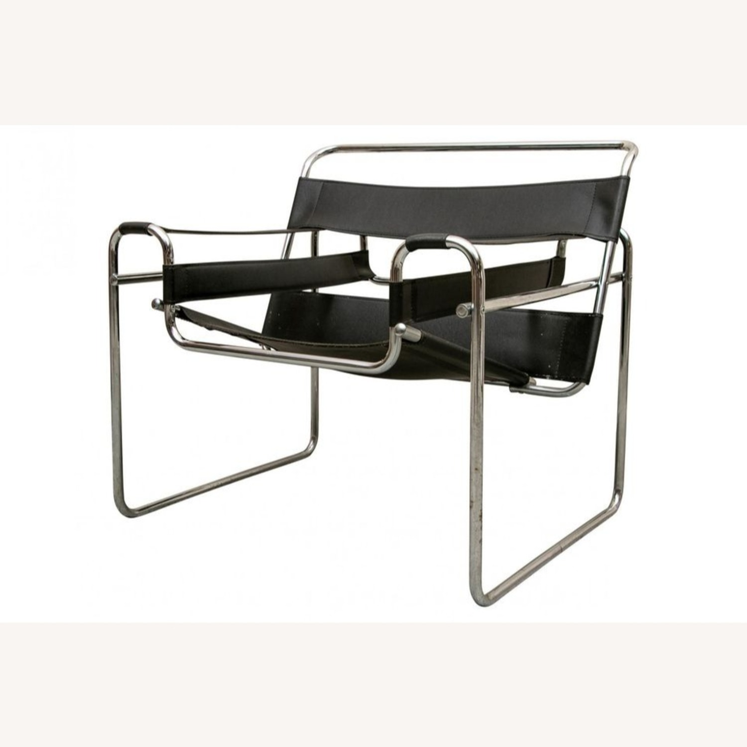 Set of TWO Breuer 'Wassily' Black Leather Chairs - image-1