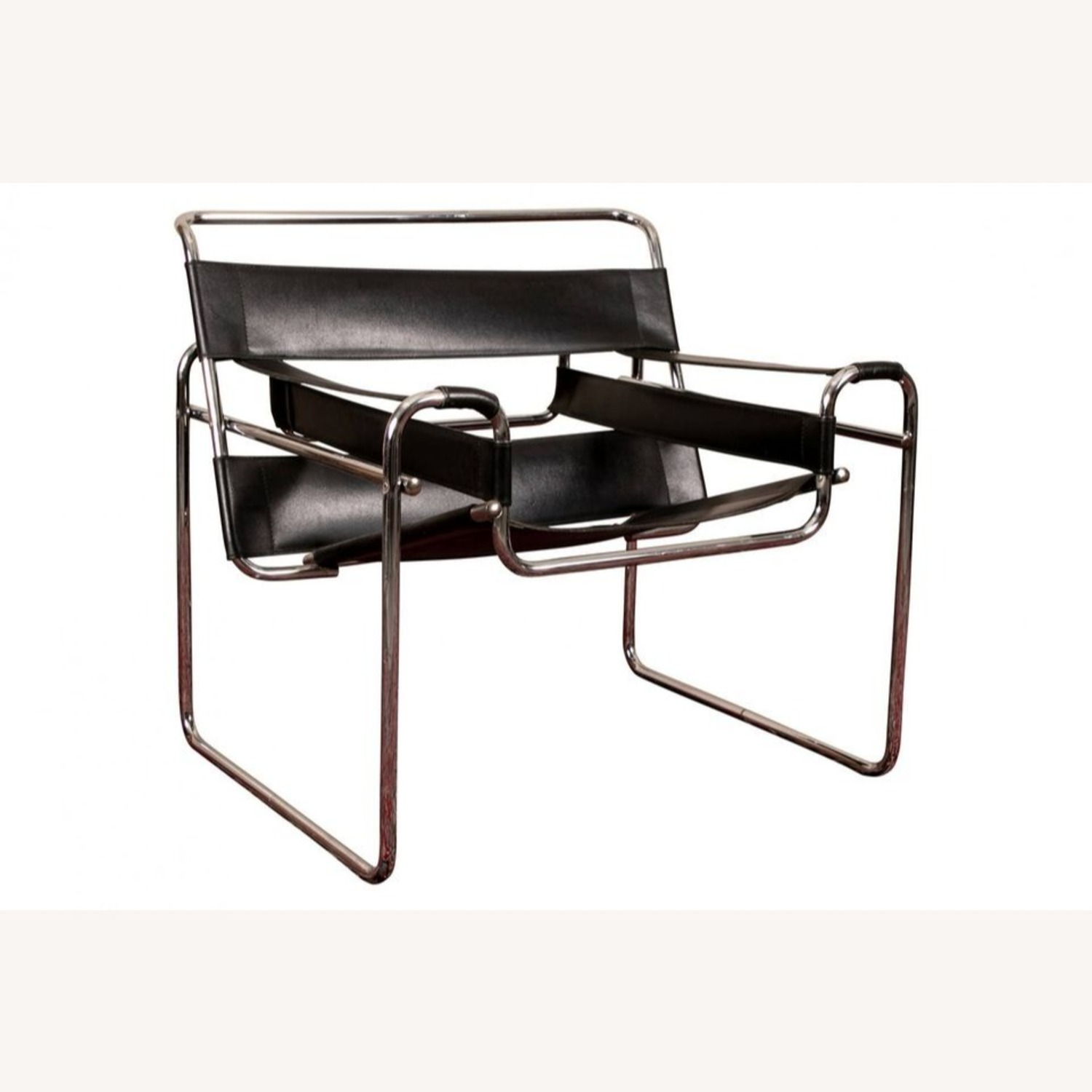 Set of TWO Breuer 'Wassily' Black Leather Chairs - image-5