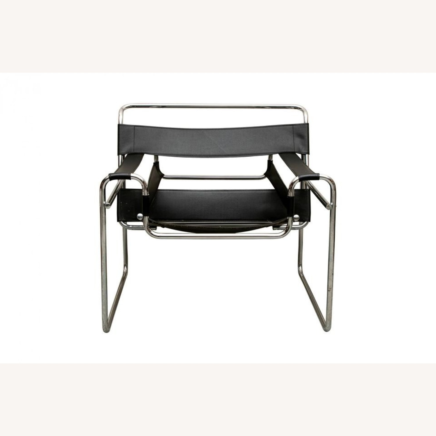 Set of TWO Breuer 'Wassily' Black Leather Chairs - image-2