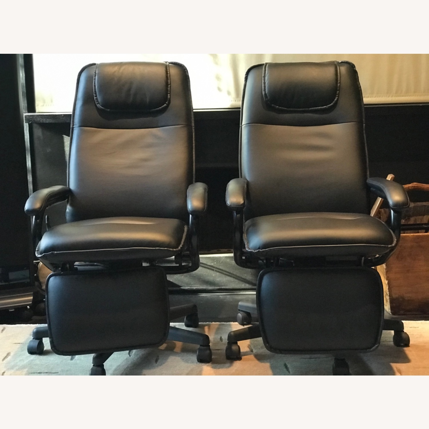 Reclining Swivel Chairs with Foot Rests - image-3