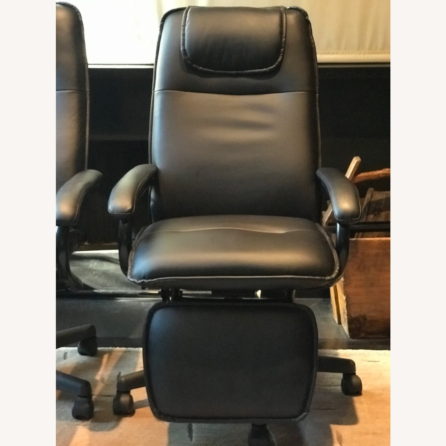 Reclining Swivel Chairs with Foot Rests - image-1