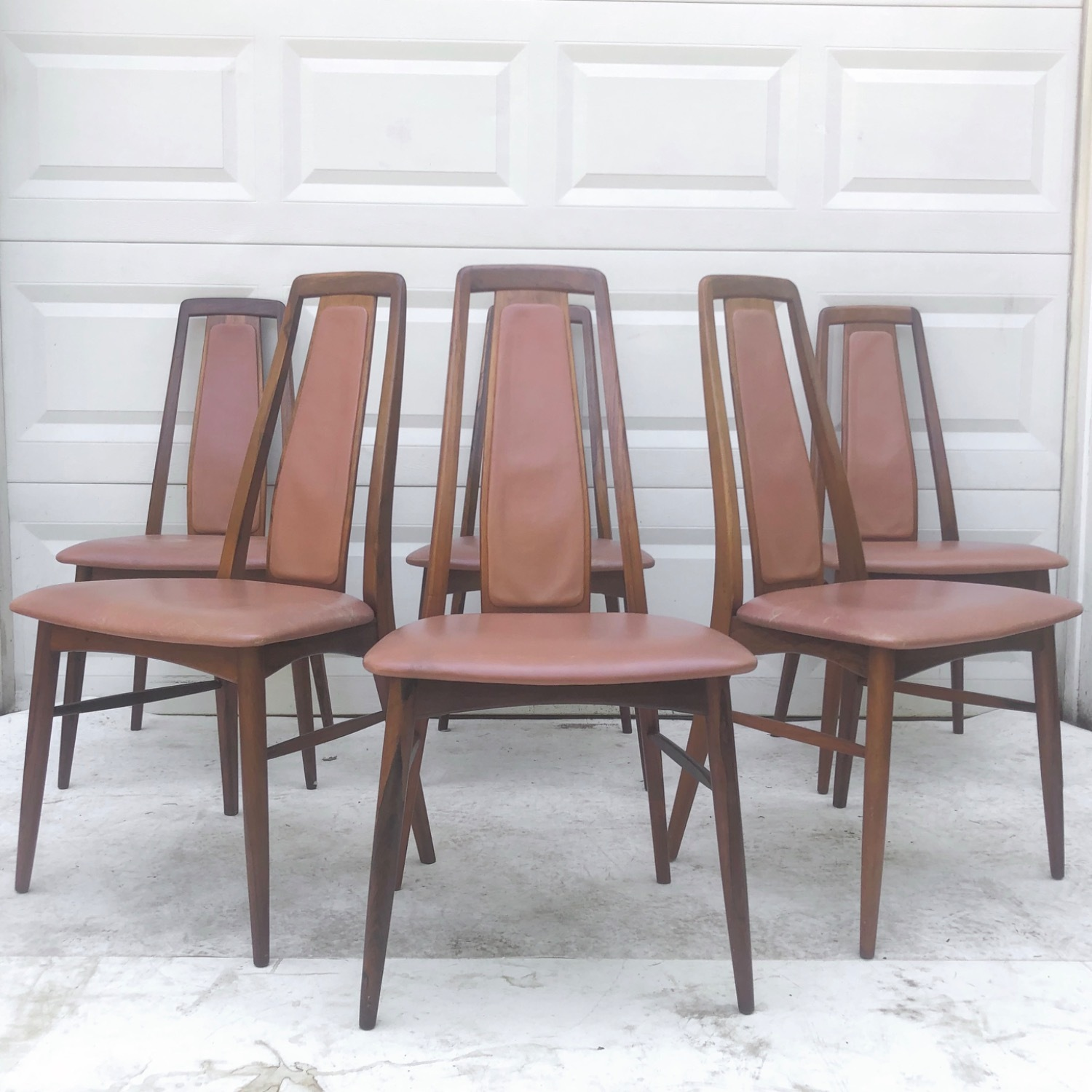 Mid-Century Rosewood Dining Chairs- Set of Six - image-1
