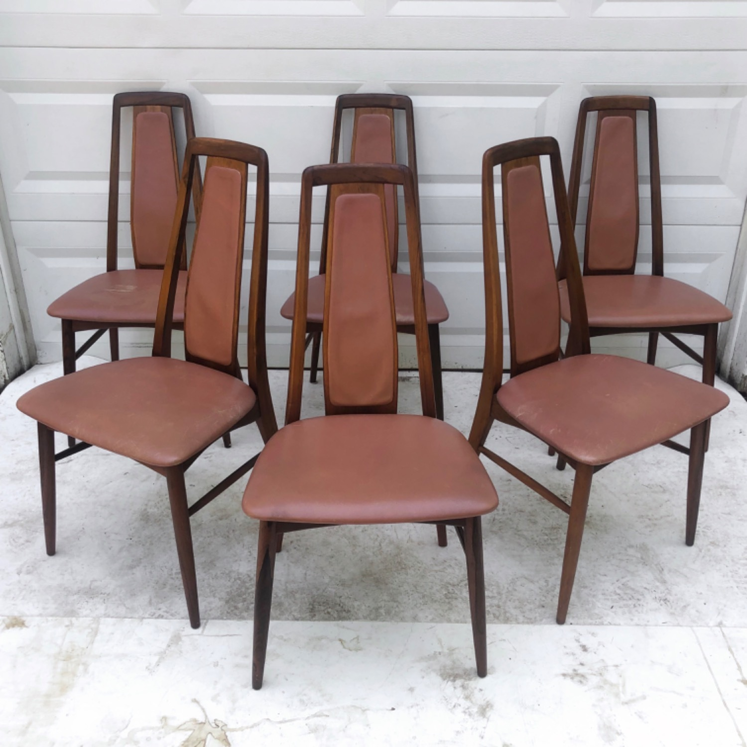 Mid-Century Rosewood Dining Chairs- Set of Six - image-2
