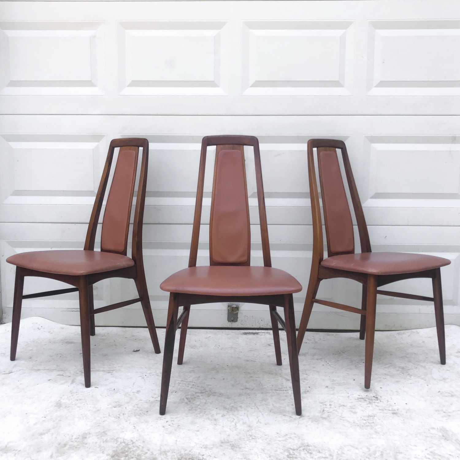 Mid-Century Rosewood Dining Chairs- Set of Six - image-3