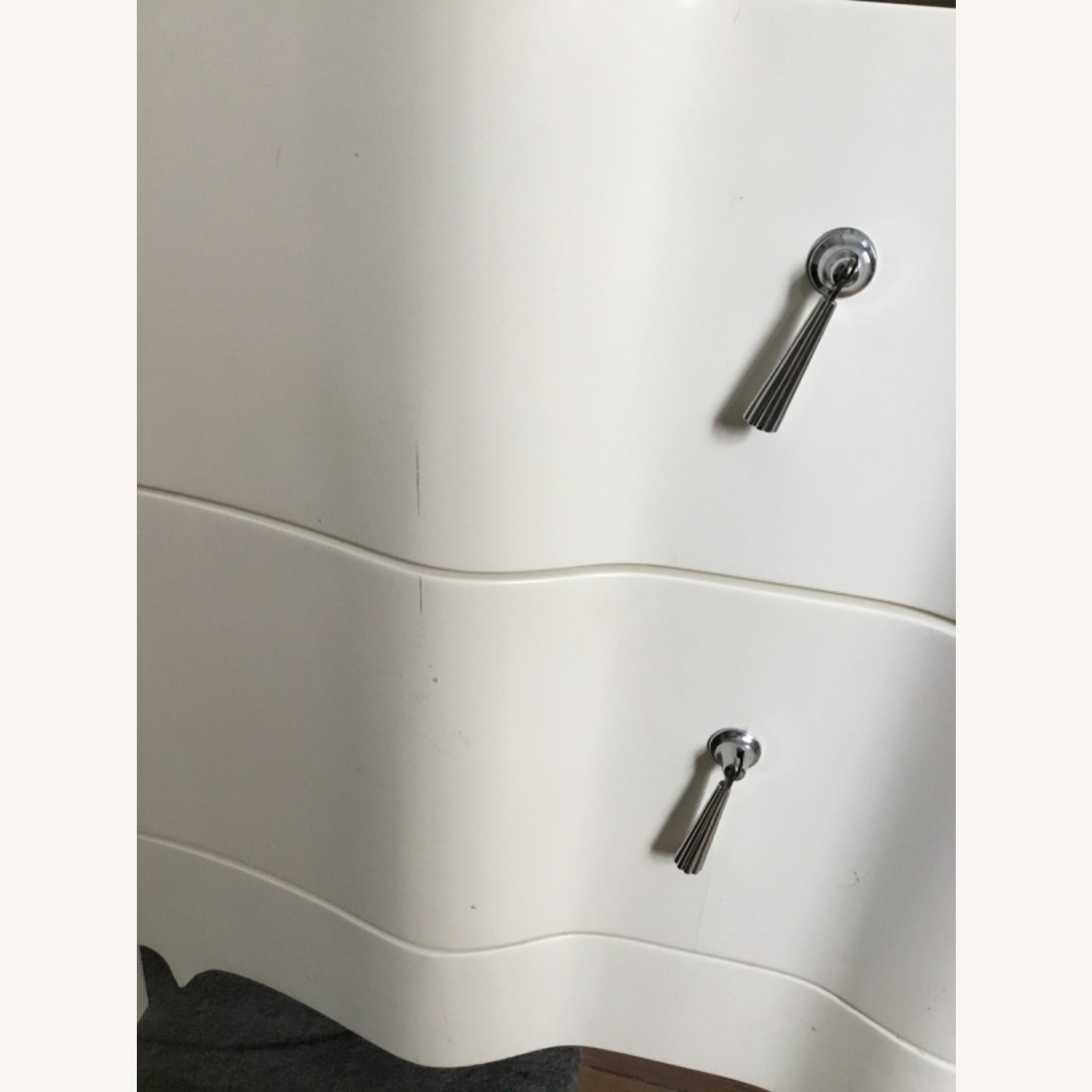 Set of 2 - Bungalow 5 Off White 3 Drawer Nightstand - image-2
