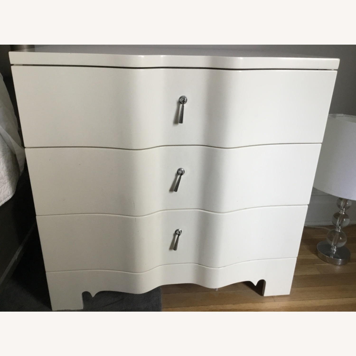 Set of 2 - Bungalow 5 Off White 3 Drawer Nightstand - image-0