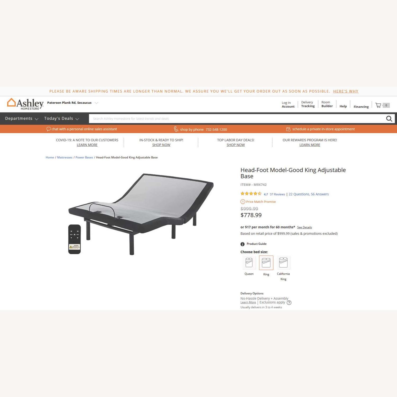 Ashley Furniture King Size Adjustable Base - image-3