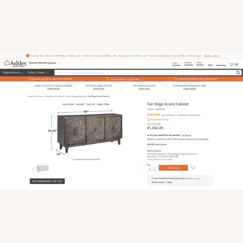 Ashley Furniture Fair Ridge Accent Cabinet - image-4
