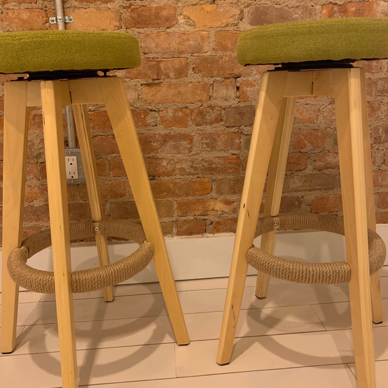 Wood Bar Stools - image-0