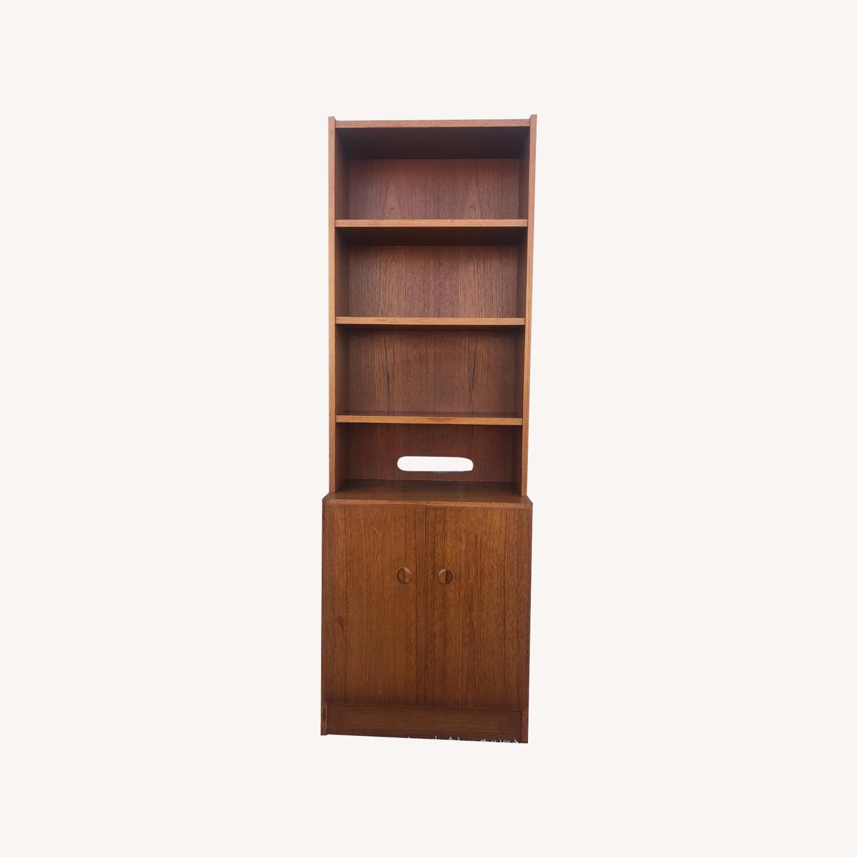 Scandinavian Modern Teak Shelving with Cabinets - image-0