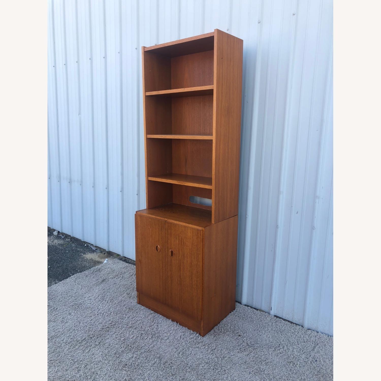 Scandinavian Modern Teak Shelving with Cabinets - image-5