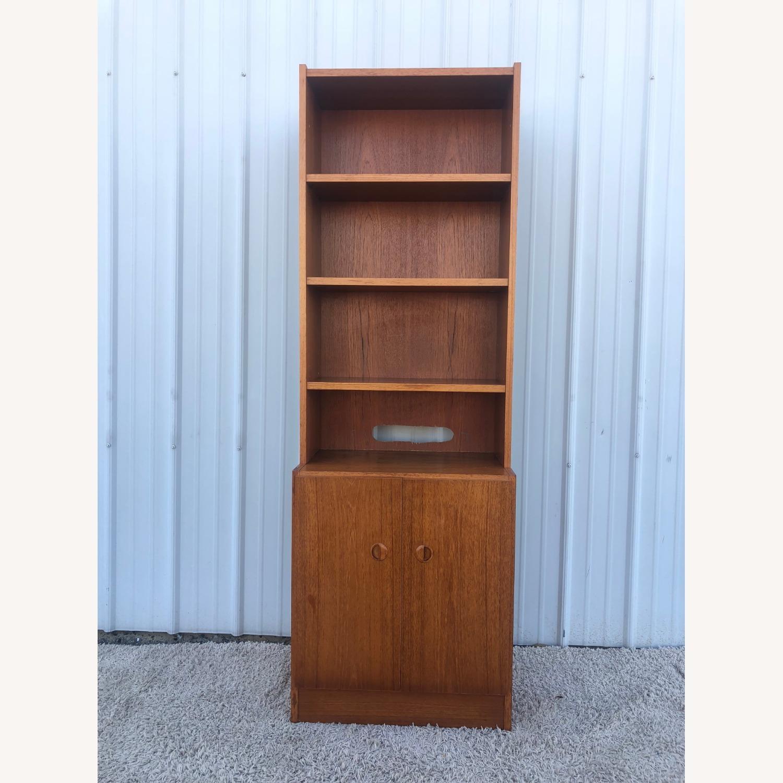 Scandinavian Modern Teak Shelving with Cabinets - image-1