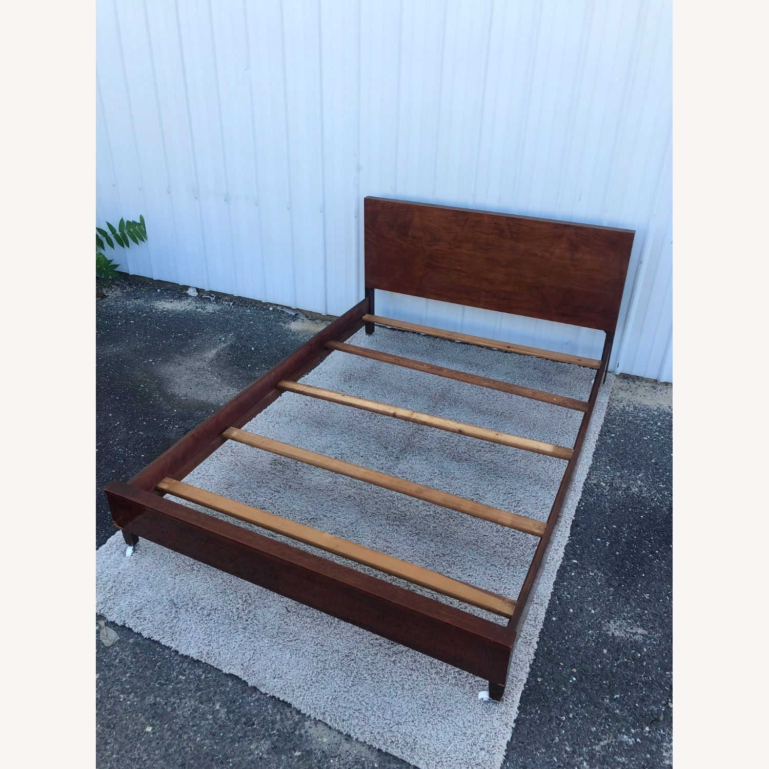 Mid Century Full Size Bed Frame in Mahogany - image-17