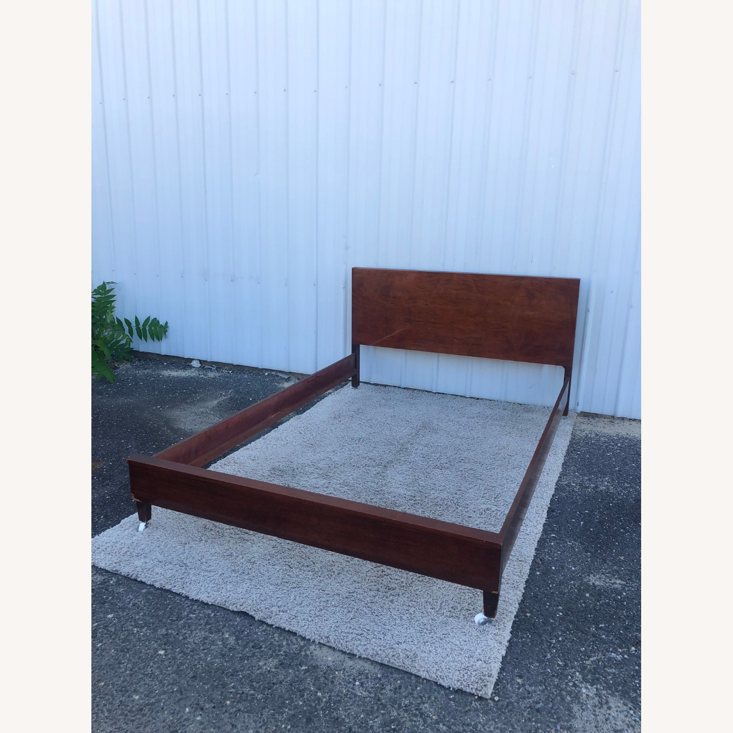 Mid Century Full Size Bed Frame in Mahogany - image-13