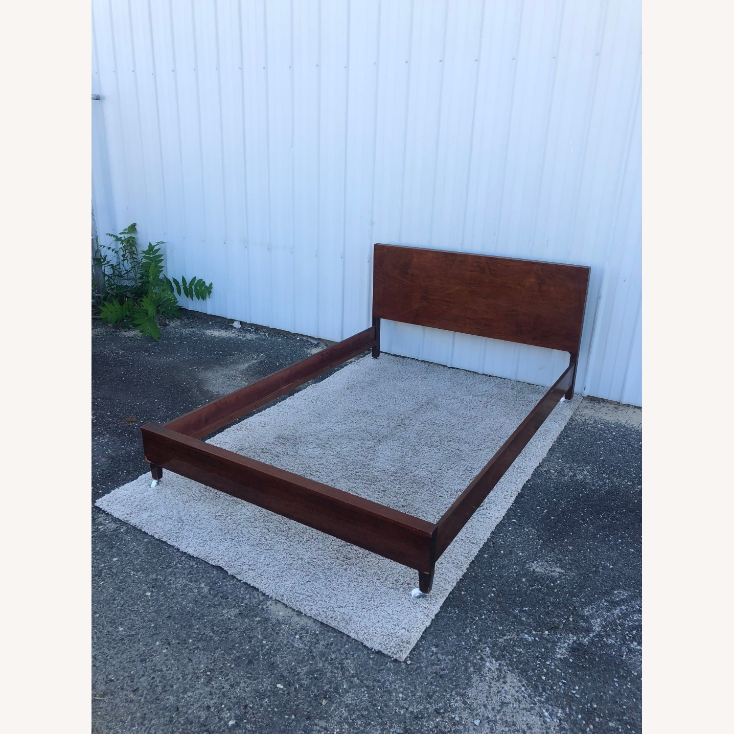 Mid Century Full Size Bed Frame in Mahogany - image-2