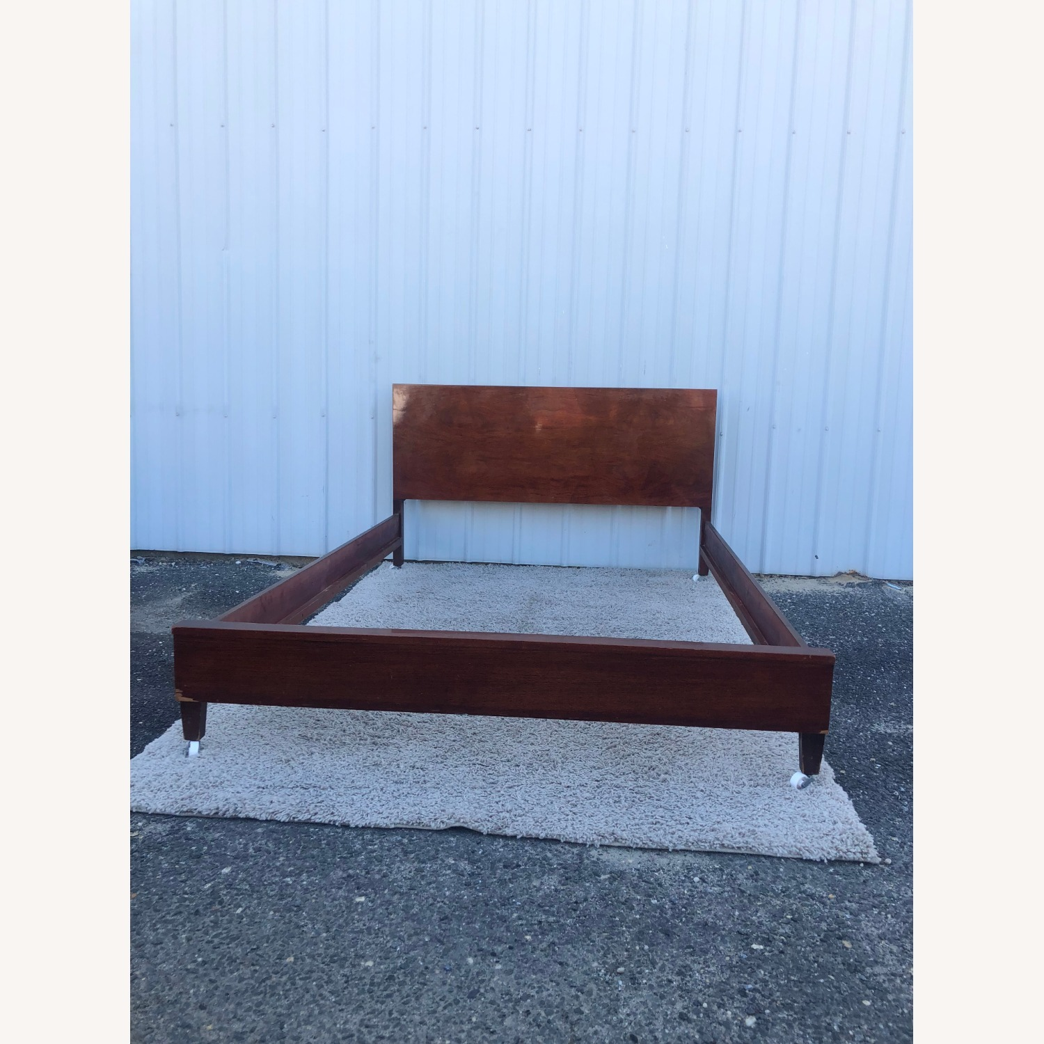 Mid Century Full Size Bed Frame in Mahogany - image-3