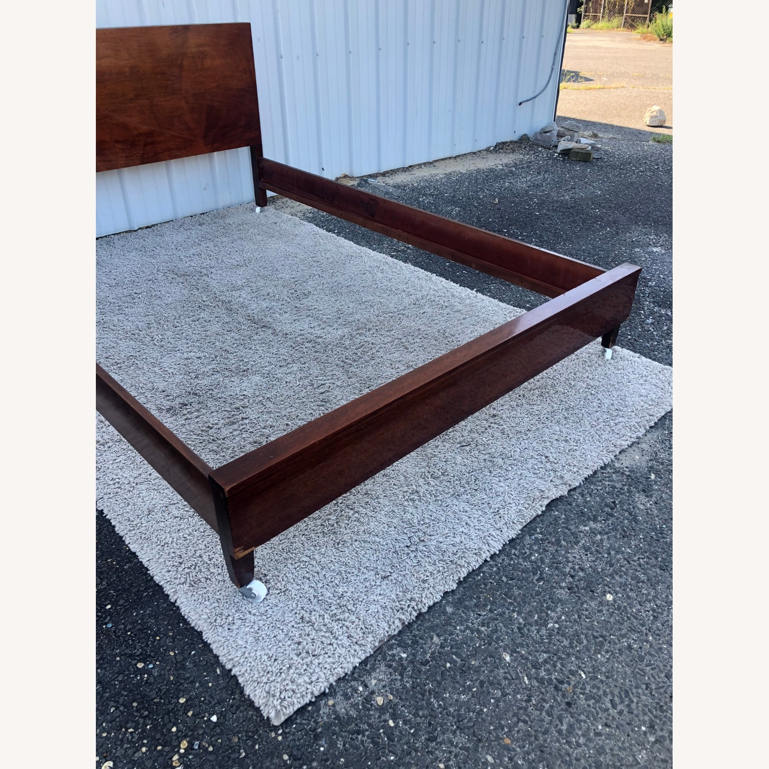 Mid Century Full Size Bed Frame in Mahogany - image-6