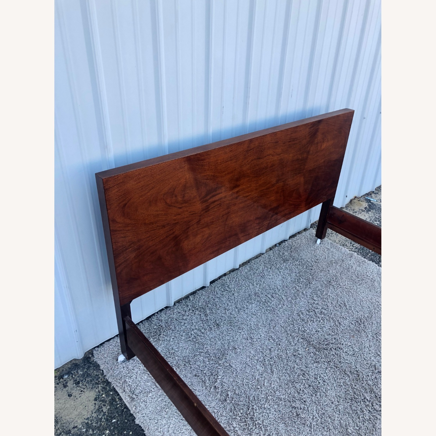 Mid Century Full Size Bed Frame in Mahogany - image-9