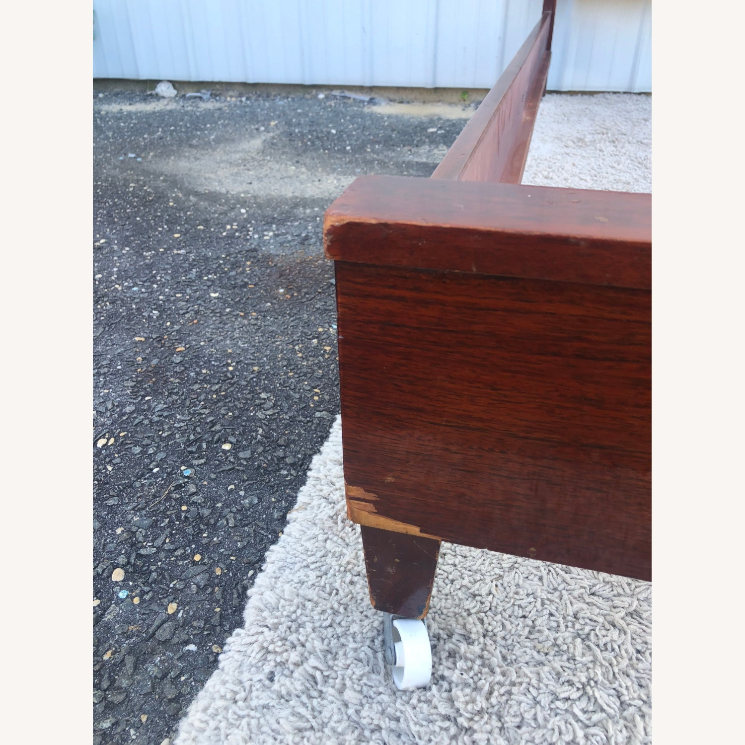 Mid Century Full Size Bed Frame in Mahogany - image-12