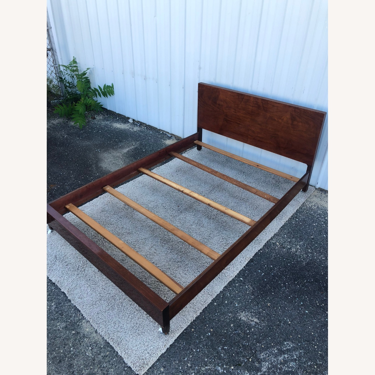 Mid Century Full Size Bed Frame in Mahogany - image-18